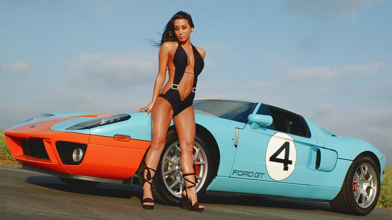 Ford Babes Muscle Car Babes